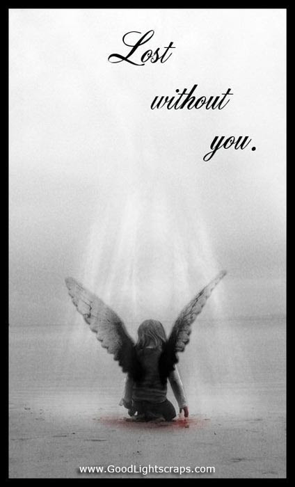Lost Without You Angel Quote Quotespicturescom