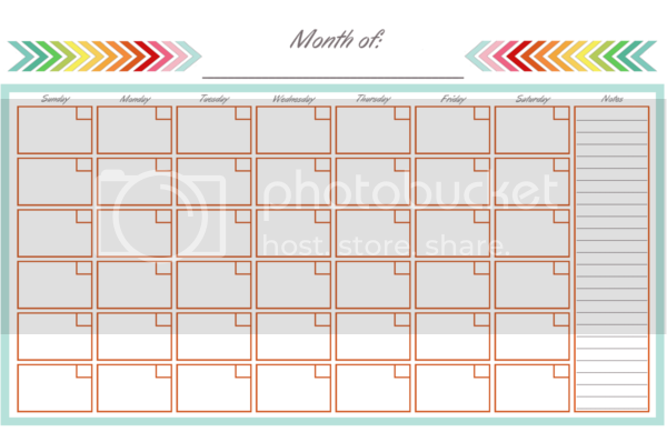 Diy Home Sweet Home Monthly Calendar Half Page