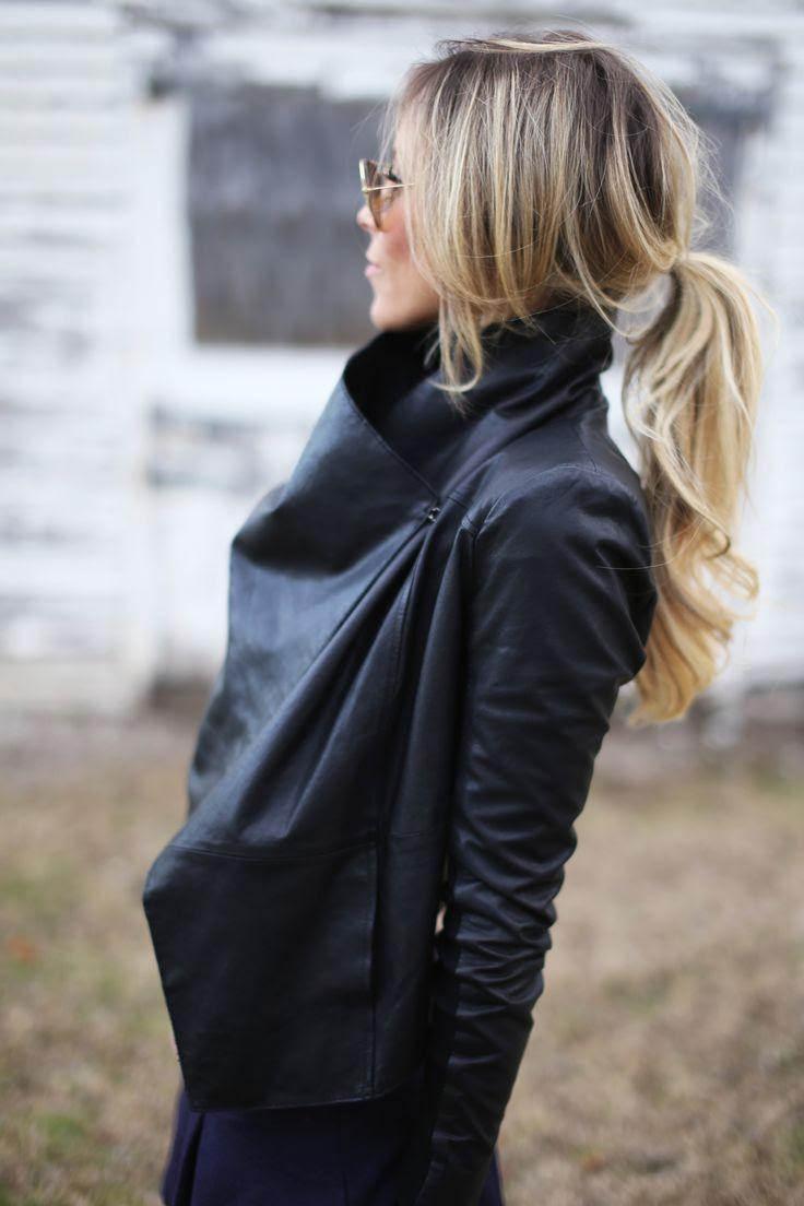 Low pony + leather.