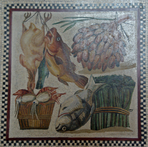 Natura morta, mosaic romà, Musei Vaticani, Roma
