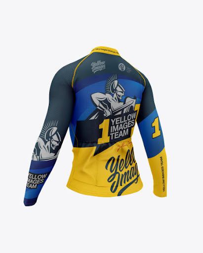 Download Women`s Cycling Jersey Back Half Side View Jersey Mockup ...