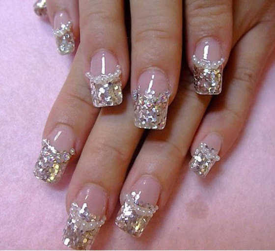 Luxury Nails Beautiful Acrylic Nail Designs With Rhinestones