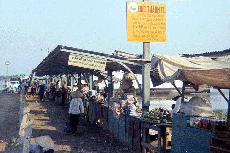 Mỹ Thuận Ferry - Vĩnh Long 1970 - Photo by Patrick Patterson