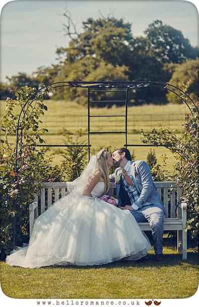 Intimate romantic photo at wedding at Bruisyard Hall - www.helloromance.co.uk
