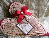 SWEETHEART VALENTINE HEART in Red