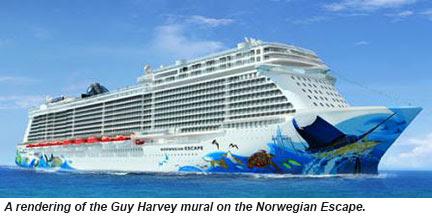 Norwegian Escape hull art