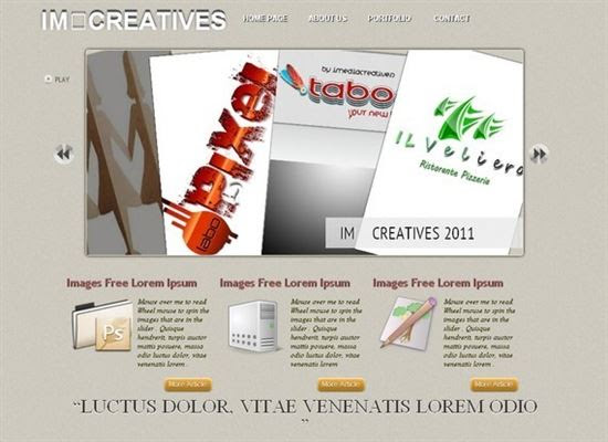 IMCreatives HTML5 and CSS3 Template