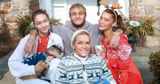 Avatar of Gigi and Bella Hadid Spend Cozy Christmas Making Gingerbread Houses with Mom Yolanda at Her Farm
