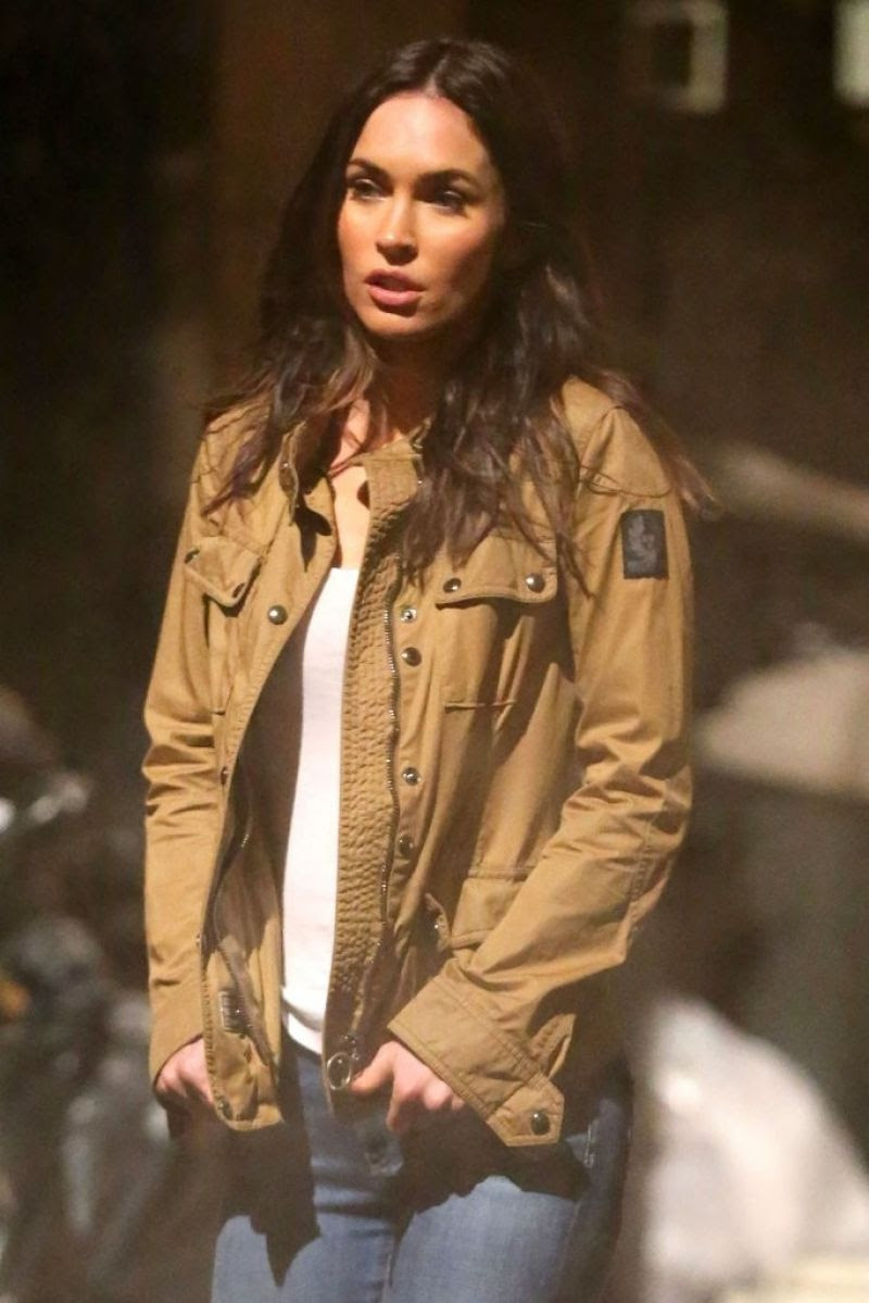 MEGAN FOX on the Set of Teenage Mutant Ninja Turtles 2 in New York 04/30/2015