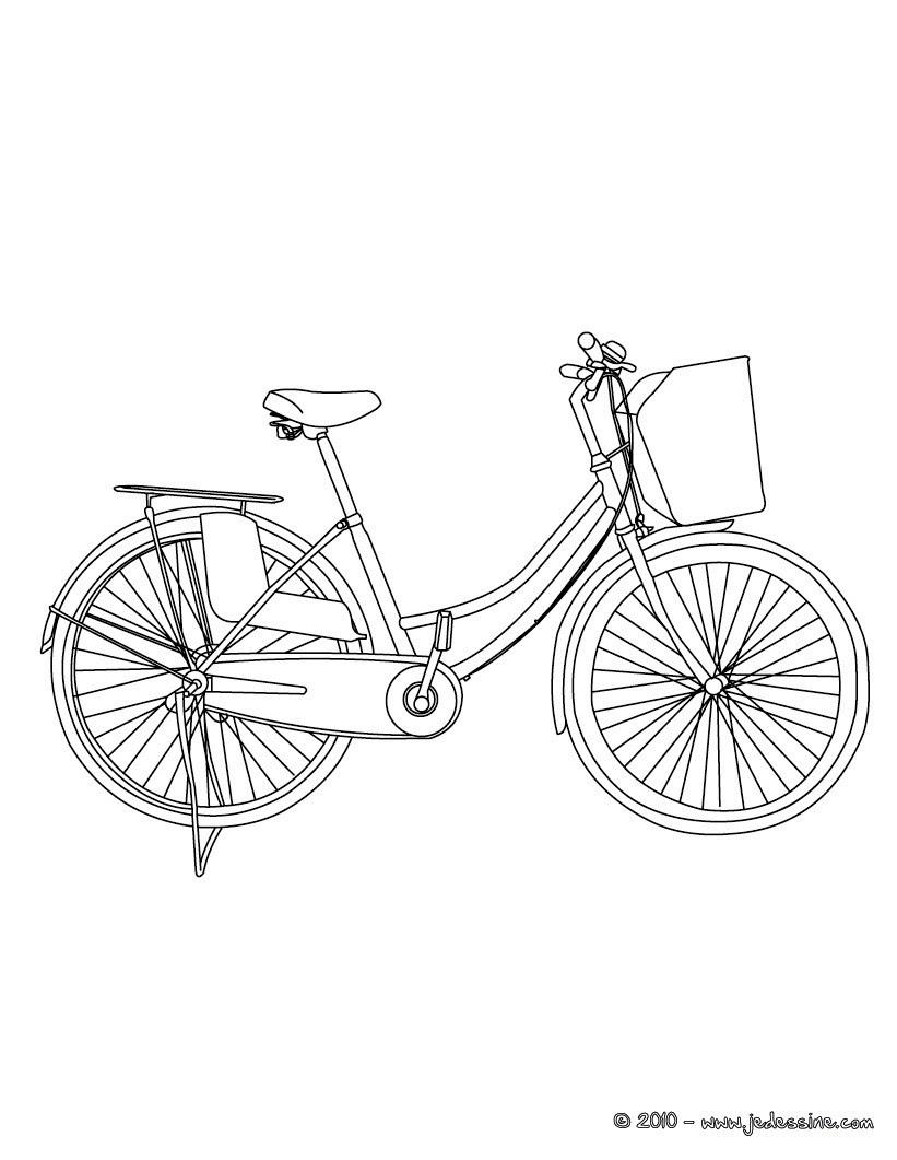 Vélos de ville  colorier