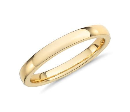 Low Dome Comfort Fit Wedding Ring in 14k Yellow Gold (2.5
