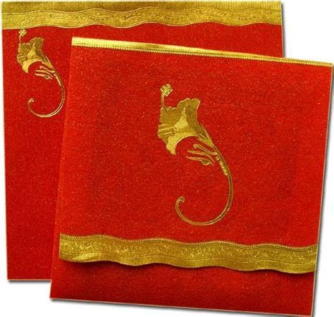 Indian wedding cards can be simple and articulate cards in