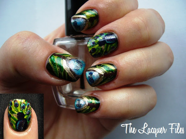 Peacock Nails Nail Art Design