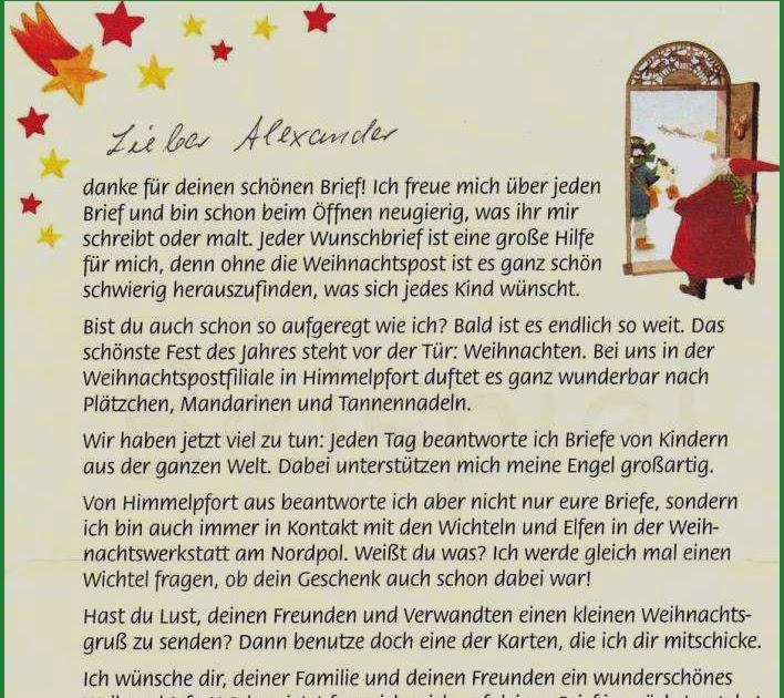 brief vom weihnachtsmann zum ausdrucken  weihnachtspost