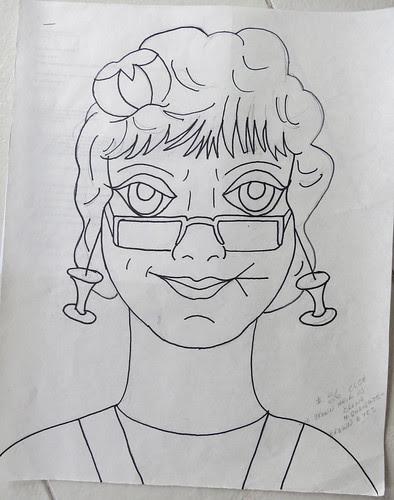 Lady #36 -Olga - the drawing
