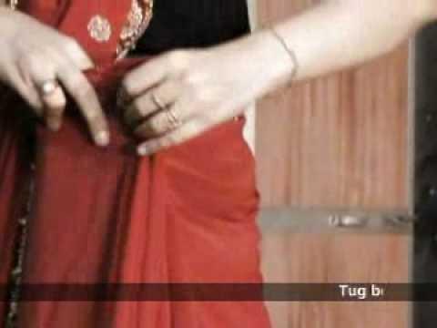 Hoe een sari op traditionele wijze te dragen.