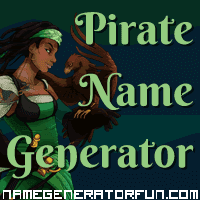 Get your own pirate name from the pirate name generator!