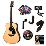 Yamaha FG720S Acoustic Guitar BUNDLE w/Legacy Accessory Kit (Tuner, Picks, DVD, Capo and Much More)