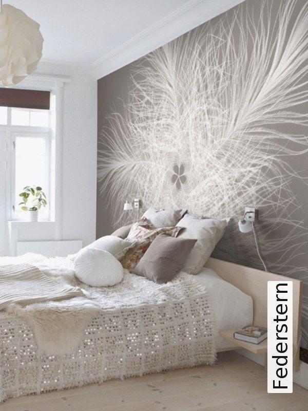 Wandgestaltung schlafzimmer vliestapete