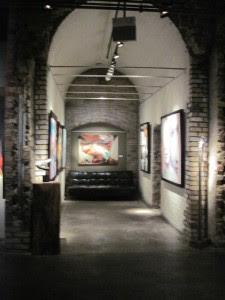Inside an art gallery at the Distillery. Copyright Deborah Abrams Kaplan