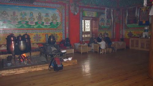 Big living room, drank lots of tea