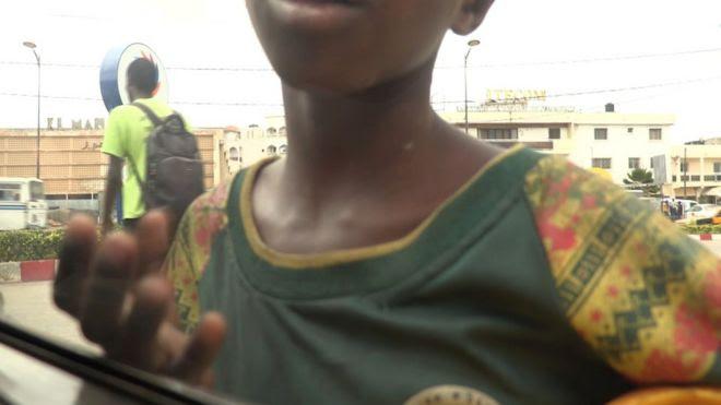 A child begging in Senegal