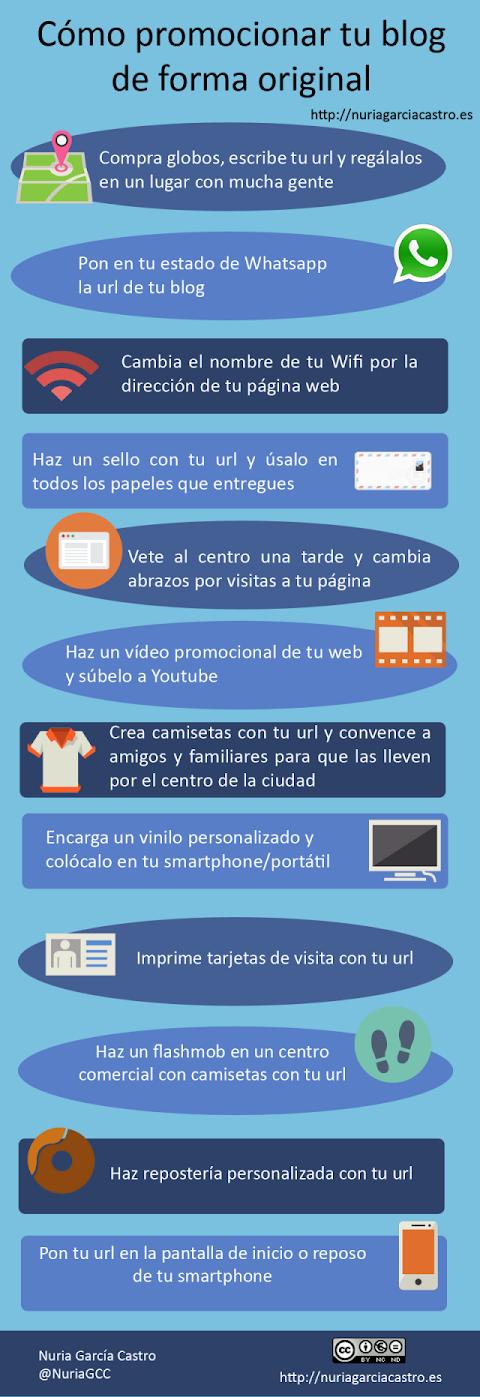Cómo promocionar tu blog de forma original (Infografía)