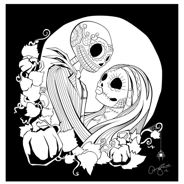 35 Nightmare Before Christmas Coloring Sheet - Free Printable Coloring Pages