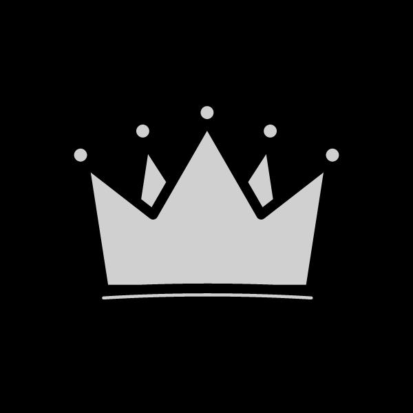 モノクロでかわいい王冠の無料イラスト 商用フリー オイデ43
