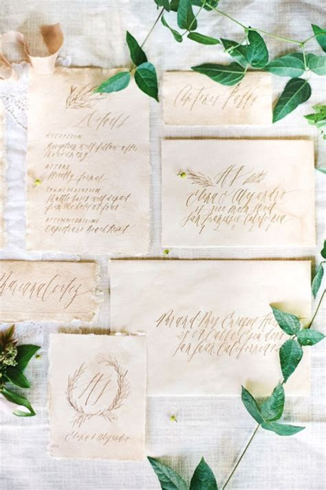 30 Ideas For A Naturally Elegant Wedding   Invitation
