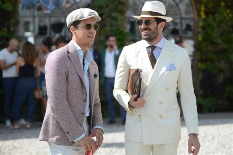 guide  wearing mens hats  suits man