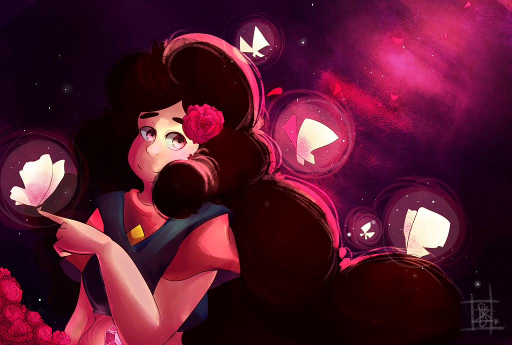 Tried out a new coloring style- I got extremely lazy halfway through and just did whatever, and it worked out ;o; Tbh the only reason I wanted to draw Stevonnie was because of that floof hair– I can't...