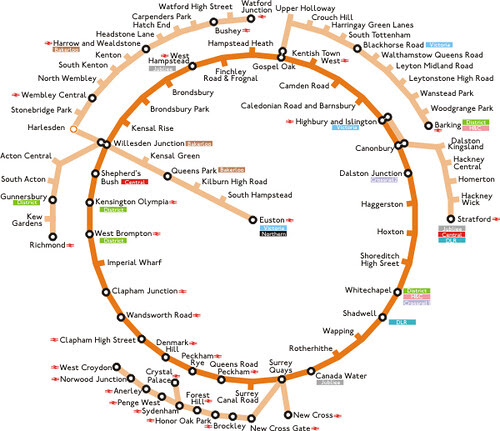 London Overground Circle Map