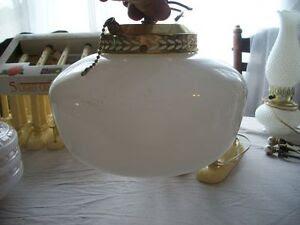 White School House Style Globe Light Fixture Ceiling Fan Accessory ...
