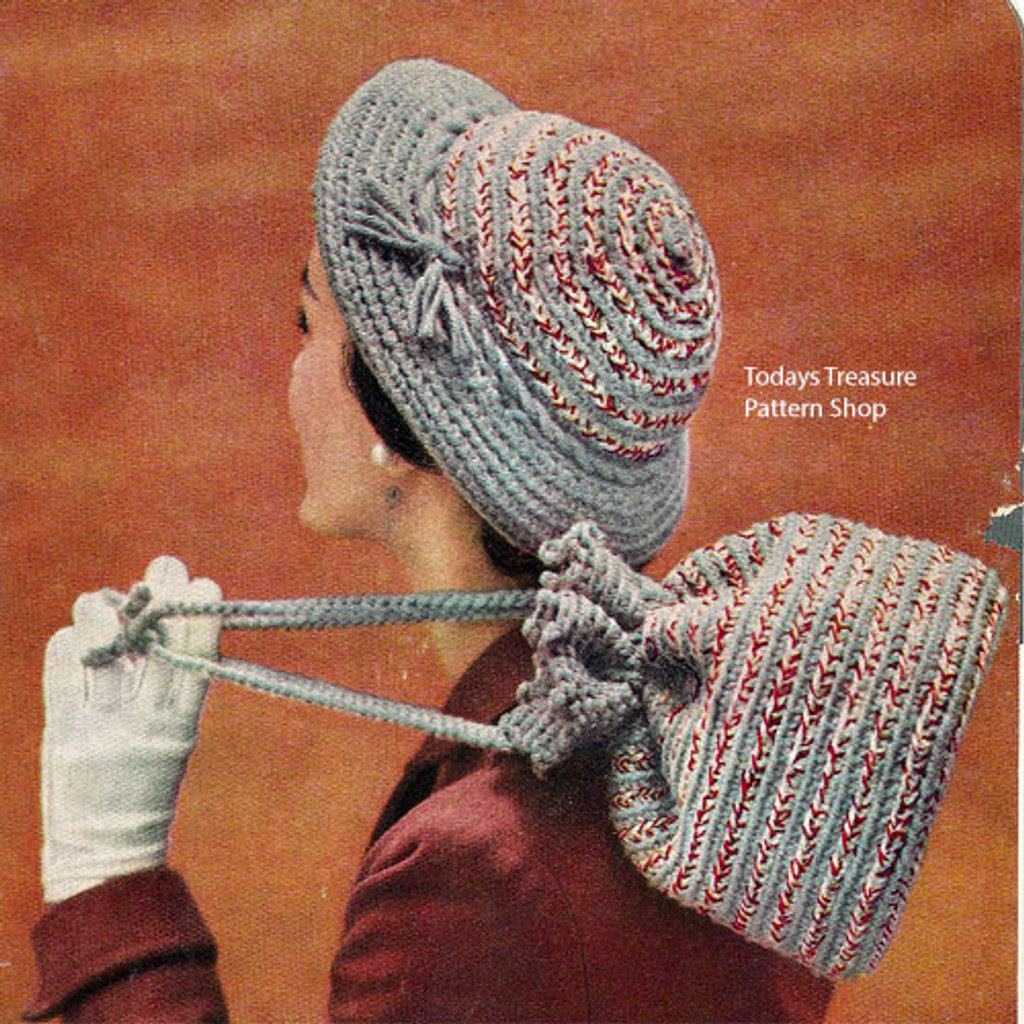Crochet Brimmed Cloche Hat Pattern