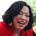 Justice Sonia Sotomayor visiting the Bronx housing project where she grew up.