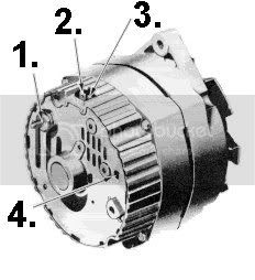 shared wiring: Wiring Diagram Alternators