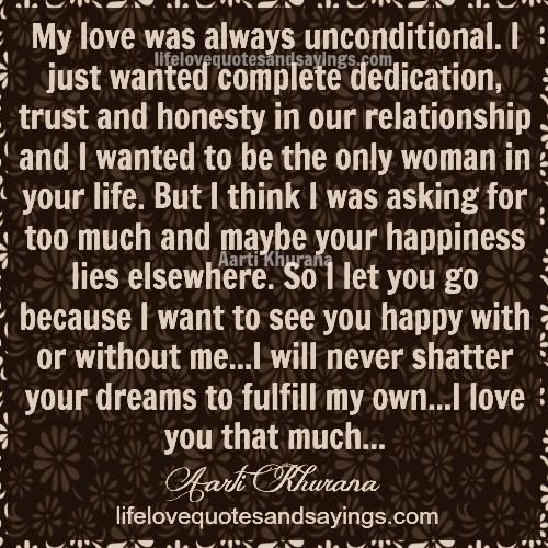 Quotes About Unconditional Trust 26 Quotes