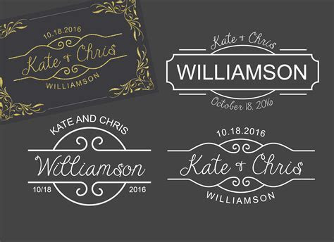 3 Monogram Template Logo Wedding ~ Wedding Templates