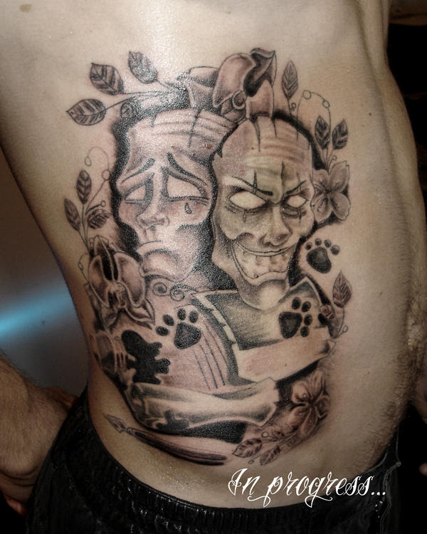 New school masks - chest tattoo