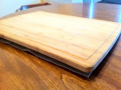 Shelf Liner Under Cutting Board