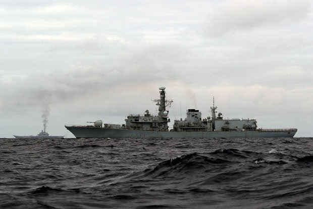 Russian navy convoy escorted by HMS Richmond