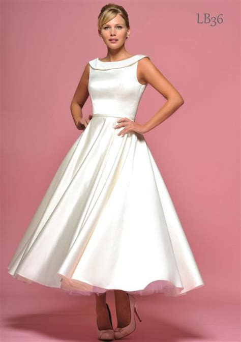 Short 50s Style Wedding Dresses   British design inspired