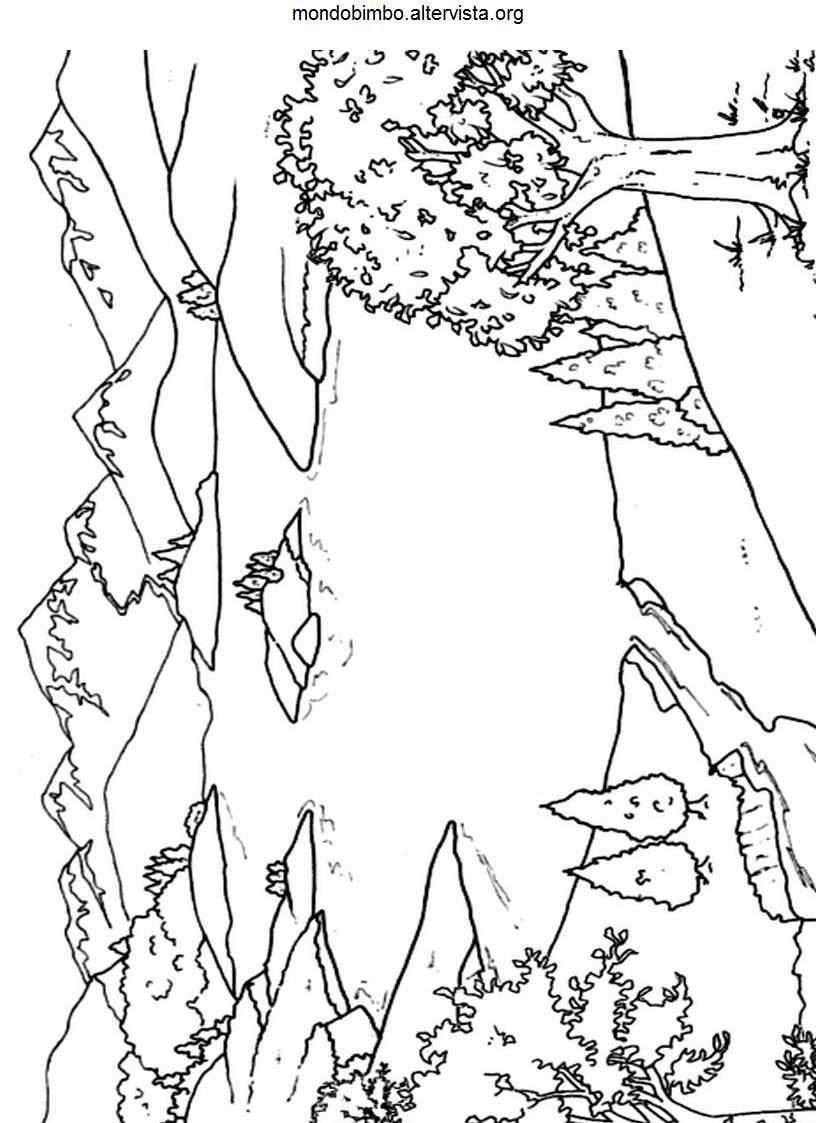 Pagine Da Colorare Montagna Rocciosa Immagini Da Colorare