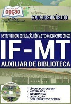 Apostila Concurso IFMT AUXILIAR DE BIBLIOTECA 2016.
