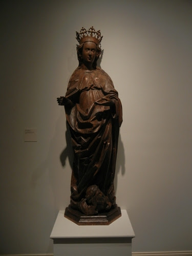 DSCN7994 _ Saint Catherine, Germany, Ulm, c. 1510, Linden wood with traces of polychromy, LACMA