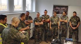 La delegación francesa durante la visita
