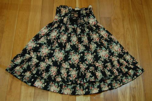 Lolita Closet Count! Skirts: Black - Bodyline Floral High Waist Skirt