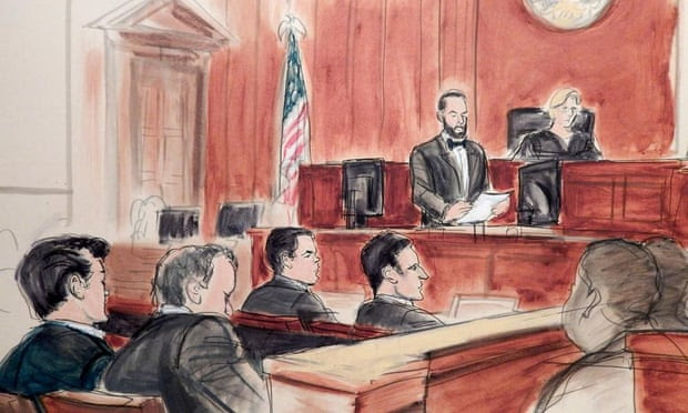Ross Ulbricht in court in January. Ulbricht was found guilty of fraud charges.