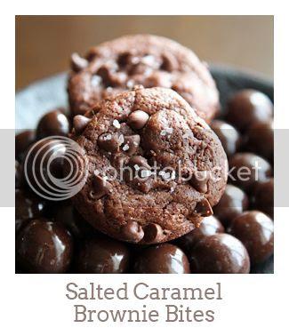 """Salted Caramel Brownie Bites"""